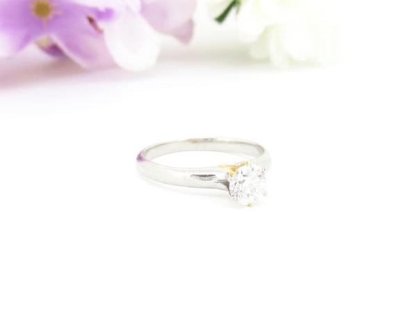 シンプルなダイヤのリングのリフォーム