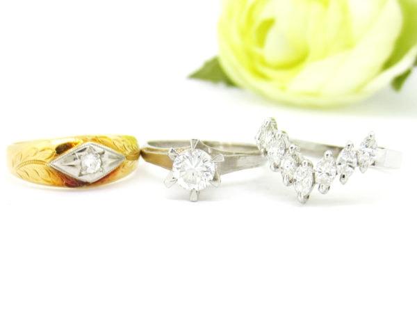 昔買ったダイヤのリングを使いやすくリフォームしたい