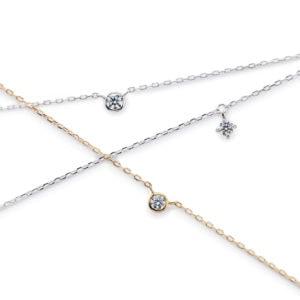 K18WGダイヤモンドブレスレット PT900ダイヤモンドブレスレット K18YGダイヤモンドブレスレットP-13-300x300