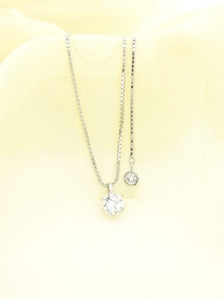 指輪をリフォームしてチャーム付きのダイヤのネックレスへ