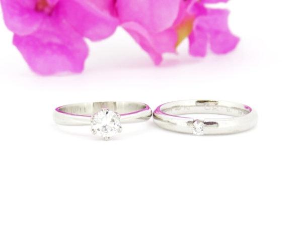 リフォーム前の結婚指輪と婚約指輪