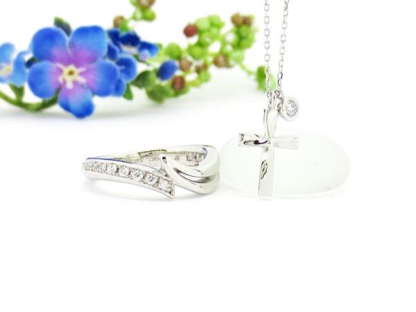 結婚指輪とネックレスをジュエリーハナジマで新たなデザインにリフォーム