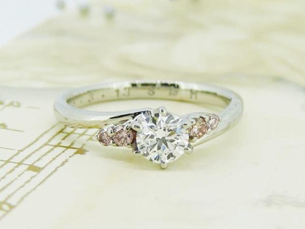 ジュエリーハナジマの婚約指輪のリフォーム事例