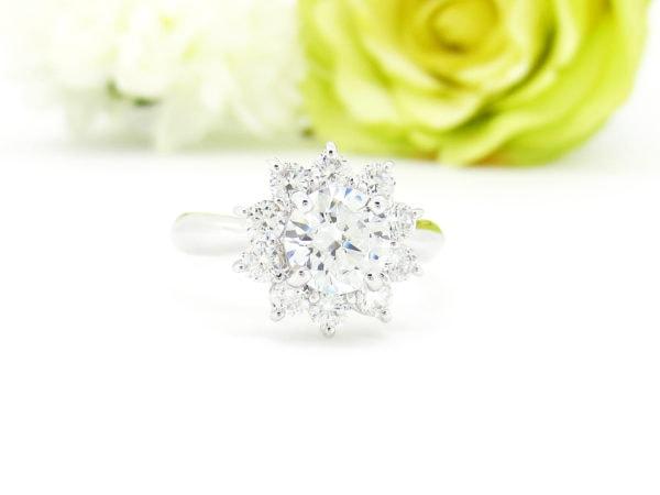 ダイヤの指輪をお花モチーフのデザインへリフォーム
