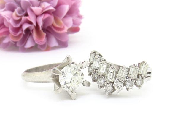 色々なカットのダイヤの指輪をリフォーム