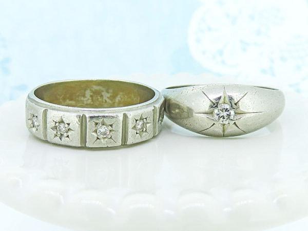 ジュエリーハナジマのリフォーム事例、ご夫婦のダイヤのリング