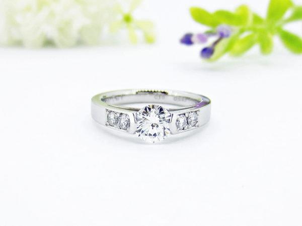 お客様事例、婚約指輪からリフォームで生まれ変わった新たな指輪