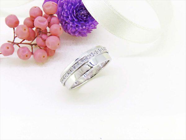 結婚指輪をリフォームして1本の指輪に