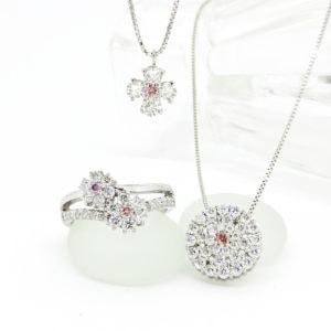 ピンクダイヤモンドリング&ネックレス