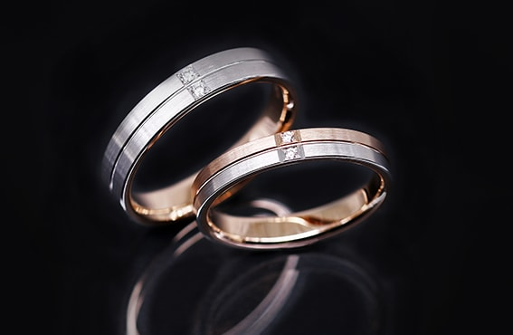 ジュエリーハナジマの鍛造リングはラザールダイヤモンドのセッティング可能